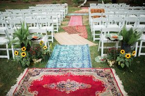 Colorful Carpet Aisle Runner