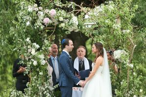 Whimsical, Garden-Inspired Wedding Arch