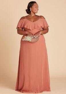 Birdy Grey Jane Convertible Dress Curve in Terracotta V-Neck Bridesmaid Dress