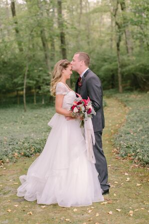 Watters Erin Gown and BHLDN Overskirt