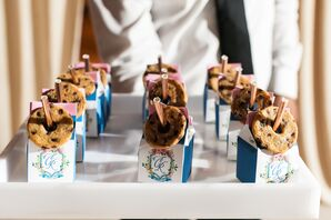 Monogrammed Milk Cartons with Cookies