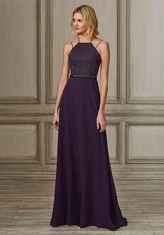 Adrianna Papell Platinum 40147 Halter Bridesmaid Dress