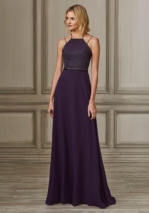 Adrianna Papell Platinum 40147 Halter Bridesmaid Dress