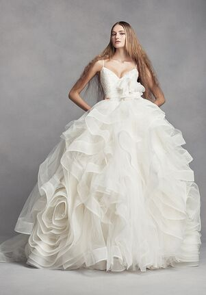 dc0ec42861f343 White by Vera Wang White by Vera Wang Style VW351371 Ball Gown Wedding Dress