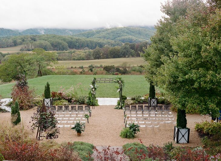 Ceremony Setup for Wedding at Pippin Hill in Charlottesville, Virginia