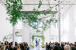 Wedding Ceremony at Sound River Studios in Long Island City, New York