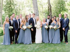 Classic Wedding Party in Shades of Blue