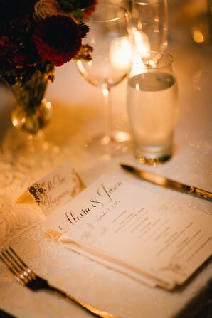 Formal Floral Menus