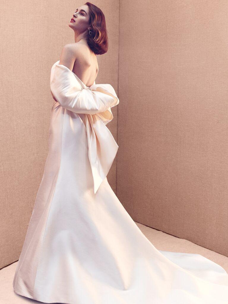 Oscar de la Renta Spring 2020 Bridal Collection off-the-shoulder wedding dress
