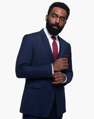 Generation Tux Navy Blue Notch Lapel Suit Blue Tuxedo