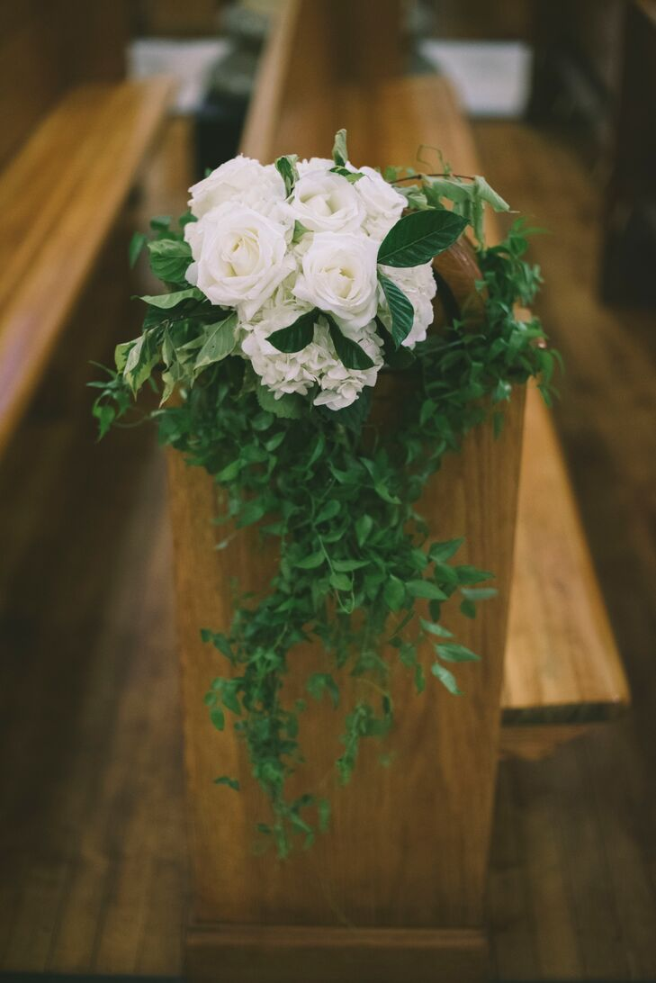 Rose and Ivy Aisle Arrangements