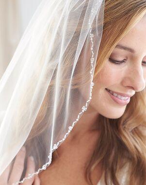Dareth Colburn Emma Pearl & Crystal Beaded Veil (VB-5004) Ivory Veil