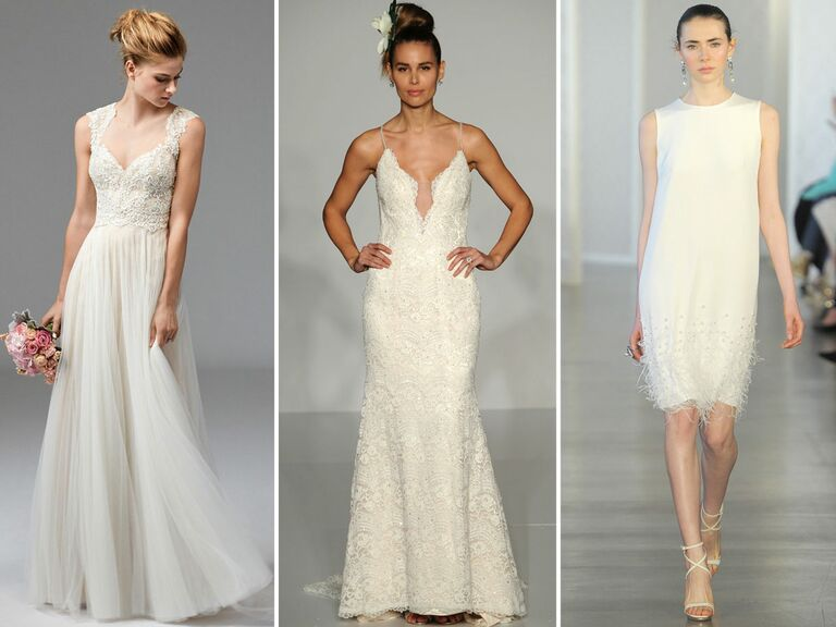 From Left Watters Wedding Dress Maggie Sottero Oscar De La A