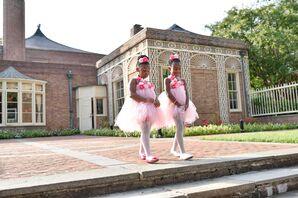 Whimsical Pink Tulle Flower Girl Dress