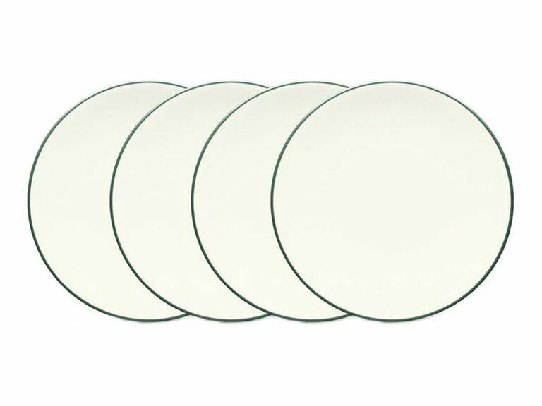 Set of four appetizer plates