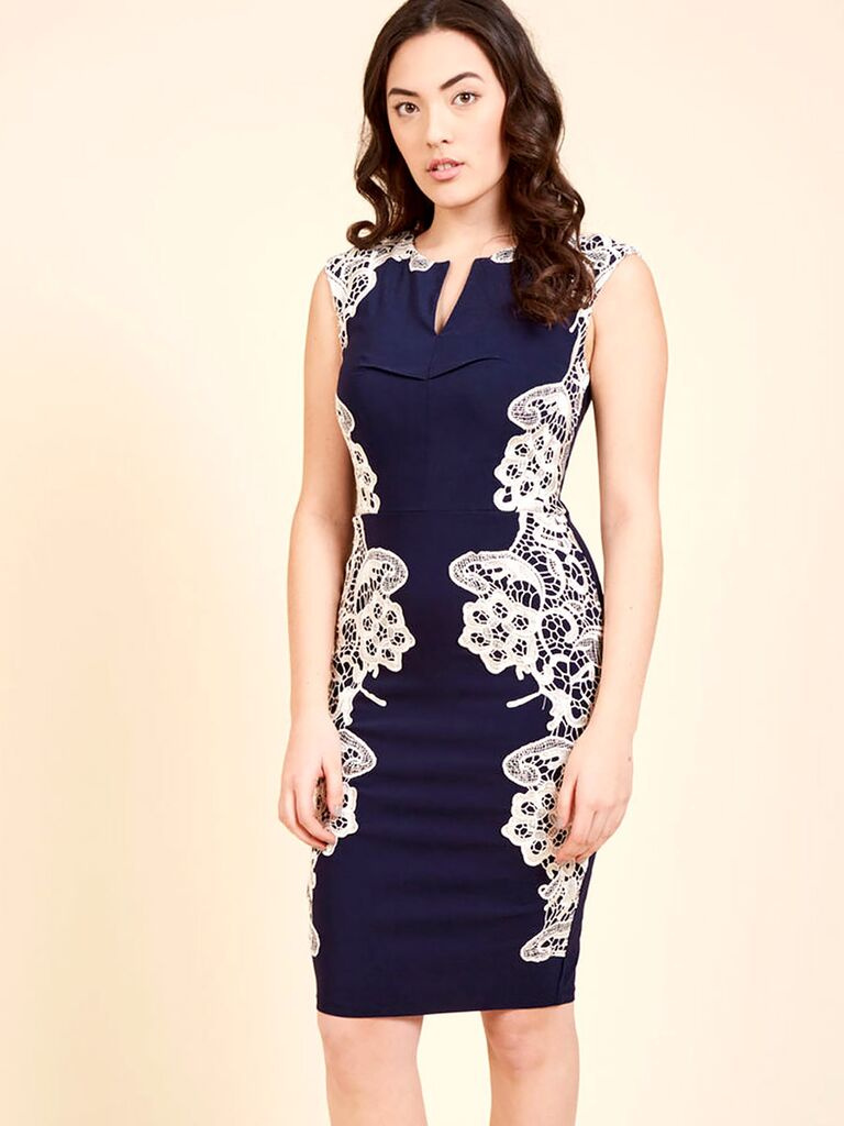 ModCloth sheath dress for spring wedding