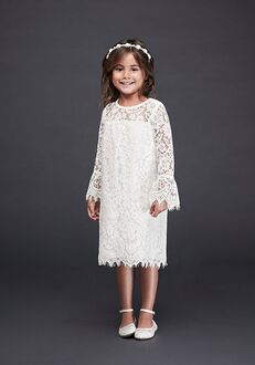 David's Bridal Flower Girl David's Bridal Style OP239 White Flower Girl Dress