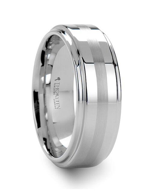 Mens Tungsten Wedding Bands W690-RCBS Tungsten Wedding Ring