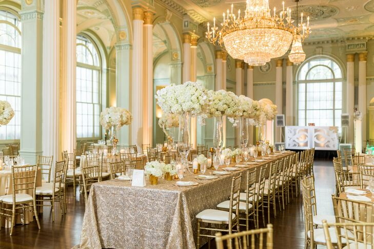 Glamorous Reception at The Biltmore Ballrooms in Atlanta, Georgia