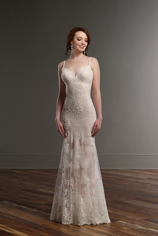 Martina Liana 819 Sheath Wedding Dress