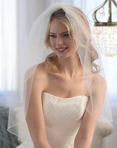 Dareth Colburn Anniston Beaded Edge Veil (VB-5032) Ivory Veil