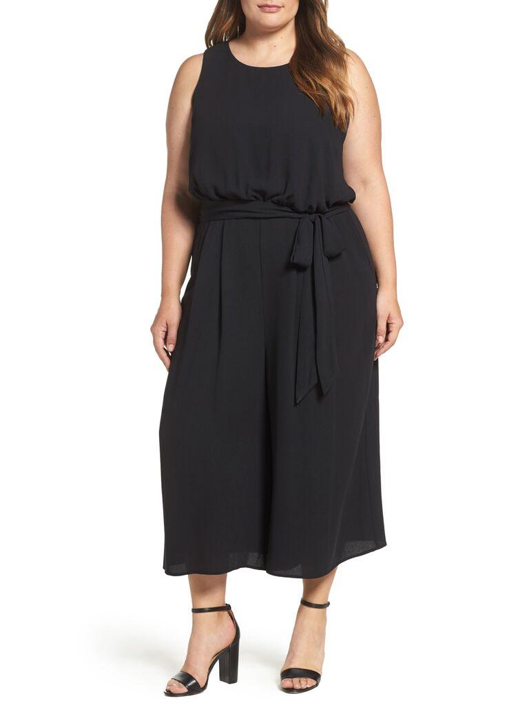 Black plus size bridesmaid jumpsuit