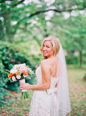 All-Lace Modern Trousseau Wedding Dress