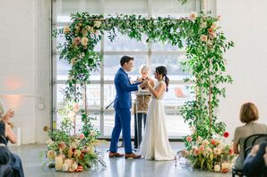 Ceremony at Sound River Studios in Long Island City, New York