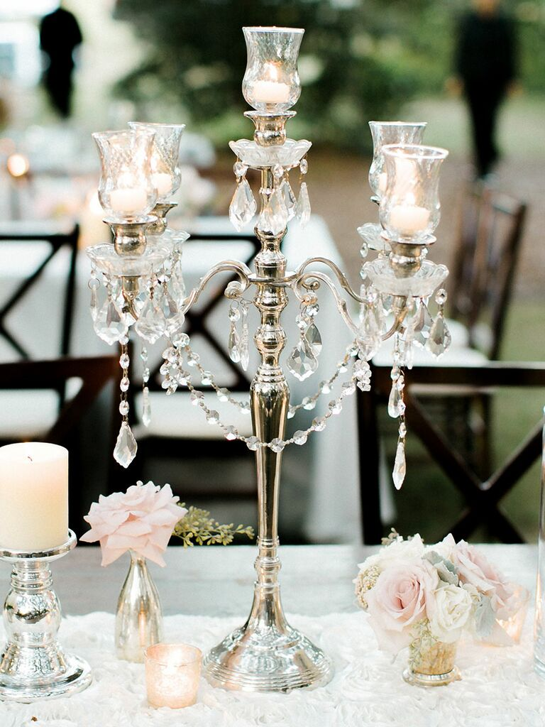 wedding centerpiecees: Bling Centerpieces For A Glamorous Wedding