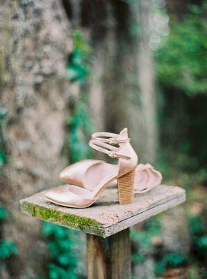 Vintage Inspired Ivory Wedding Shoes