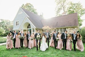 Classic Wedding Party at Point O'Woods Golf and Country Club in Benton Harbor, Michigan