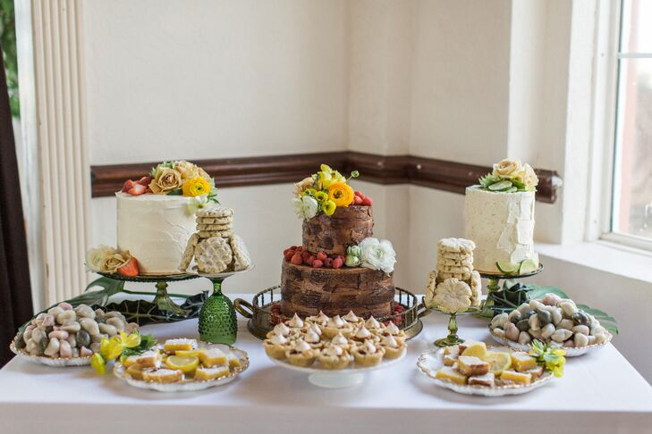 Cake Table with Alternative Dessert Options