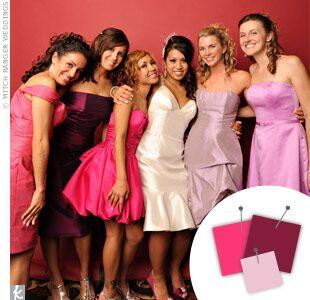 Wedding Color Combo: Hot Pink + Light Pink + Dark Pink