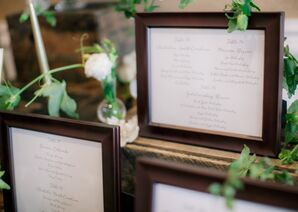 Wood Framed Seating Charts