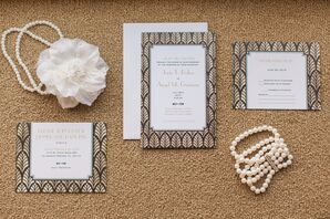 Gold and Black Glamorous Invitation Suite