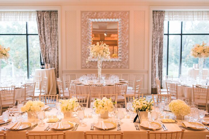 Classic Ivory Reception Tables and Centerpieces