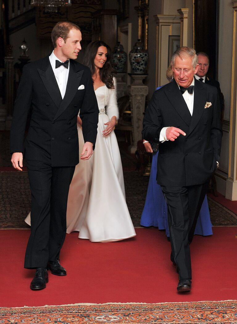 kate middleton dress prince william evening reception