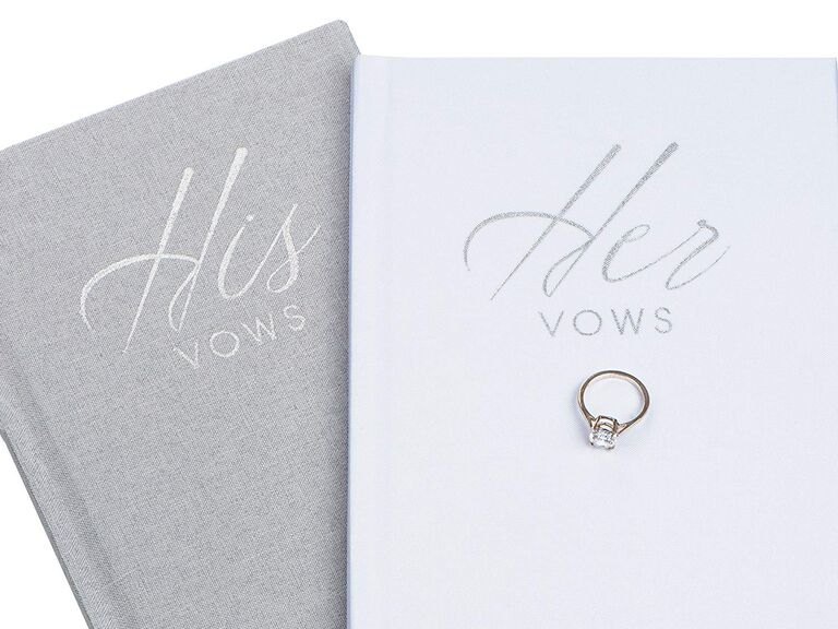 Silver vow booklets 25th anniversary gift