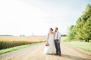 Rubies and Rust Barn Wedding in Plaine