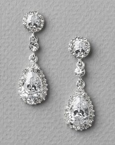 Dareth Colburn Stephanie CZ Wedding Earrings (JE-4057) Wedding Earring photo