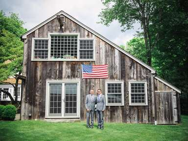 Check Out the Backyard Garden Wedding With a Pilot's Twist