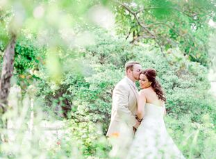 Mirene Sanchez (a Hatha & and Yin Yoga Teacher) and Geoff Hawryluk (Government of Canada) held their wedding in the backyard garden of Geoff's parent'