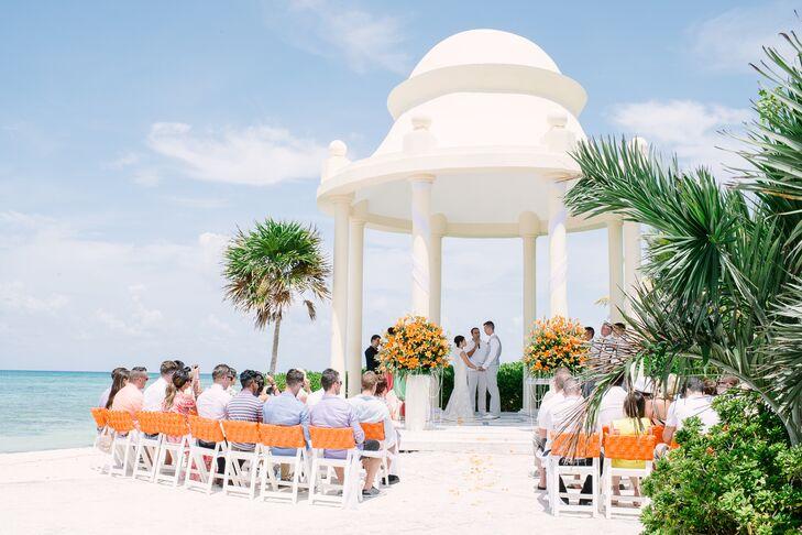 Riviera Maya Wedding   Beach Ceremony Grand Palladium Riviera Maya