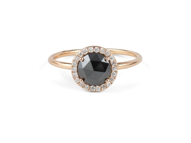 7c7befeb5 black diamond engagement ring by Catbird NYC