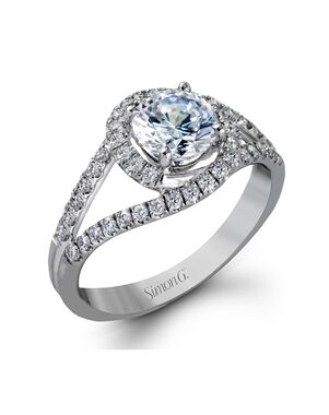 Platinum Jewelry Round Cut Engagement Ring