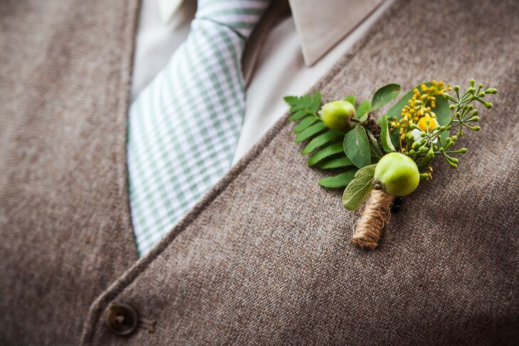 Rustic Wild Apple Boutonniere