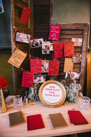 Interactive Escort Cards and Guest Book Station
