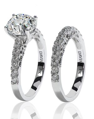 Daviani Love Links Collection DCR1161 White Gold Wedding Ring
