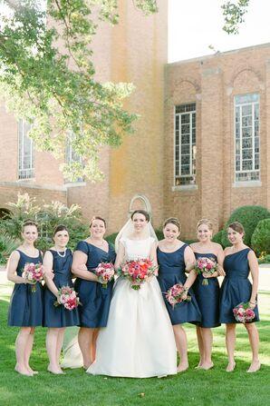 Navy Alfred Sung Bridesmaid Dresses