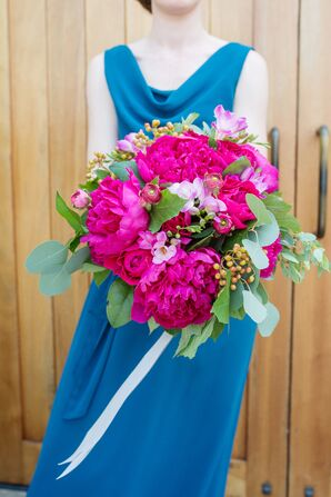 Fuchsia Peonies Bridesmaid Bouquet
